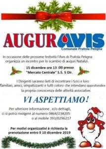 Saluti di Natale soci Avis Pratola Dicembre 2019
